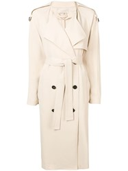 Vanessa Bruno Double Breasted Trench Coat Neutrals