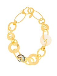 Lizzie Fortunato Solstice Chain Link Gold Plated Necklace Gold