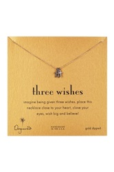 Dogeared Two Tone Three Wishes Cross Necklace Metallic