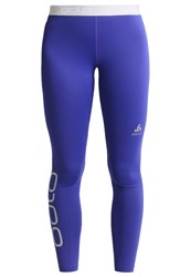 Odlo Sliq 2.0 Tights Spectrum Blue Platinum Grey Purple