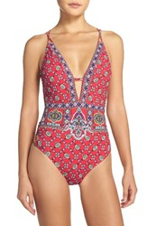 Nanette Lepore Women's 'Goddess Pretty Tough' One Piece Swimsuit