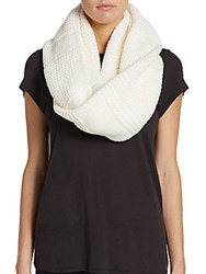 Cole Haan Garter Stitched Infinity Scarf Ivory