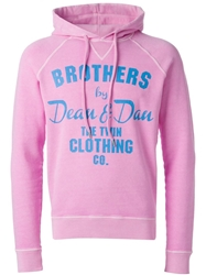 Dsquared2 Printed Hoodie Pink And Purple