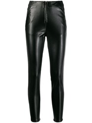 Patrizia Pepe Panelled Zip Front Skinny Trousers Black