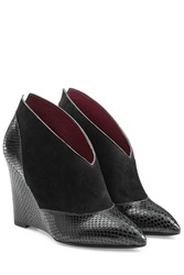 Marc By Marc Jacobs Mae Leather Wedge Booties Black