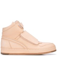 Hender Scheme Touch Strap Hi Top Sneakers Pink
