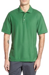 Nordstrom Men's Big And Tall Men's Shop 'Classic' Regular Fit Pique Polo Green Juniper