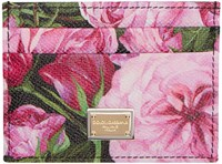 Dolce And Gabbana Pink Floral Card Holder