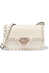 Valentino The Rockstud Micro Leather Shoulder Bag Ivory
