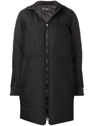 Salvatore Ferragamo Padded Fitted Coat Black
