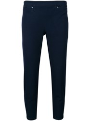 Max And Moi Cropped Tapered Trousers Blue