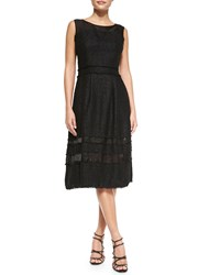 Badgley Mischka Tweed Fit And Flare Knee Length Dress Women's