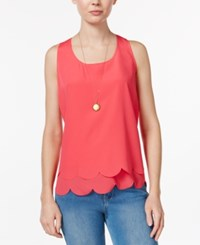 Maison Jules Tiered Cutout Shell Only At Macy's Rouge Red