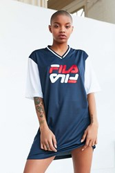 Fila Uo Bibi Baseball Mini Dress Navy