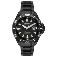 Citizen Bn0147 57E Men's Royal Marines Commandos Limited Edition Date Titanium Bracelet Strap Watch Black
