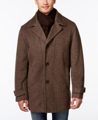Calvin Klein Single Breasted Scarf Overcoat