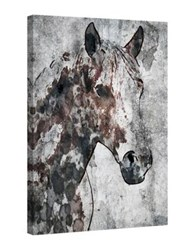 Marmont Hill Ranch Horse Painting Print On Wrapped Canvas Grey