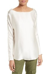 Tracy Reese Women's Silk Charmeuse Top