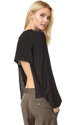 Helmut Lang Open Back Long Sleeve Tee Black