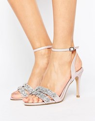 Faith Dash Embellished Heeled Sandals Pink