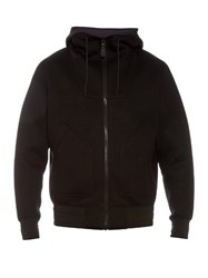 Givenchy Funnel Neck Zip Front Hooded Sweatshirt