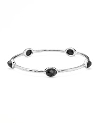 Ippolita Five Onyx Silver Bangle Black Onyx