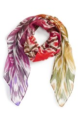 Women's Echo Circular Ikat Square Scarf Red Hot Pepper Red