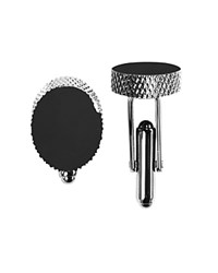 Bloomingdale's The Men's Store At Oval Textured Cufflinks 100 Exclusive Silver
