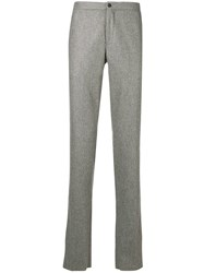 Incotex Plain Straight Trousers Grey