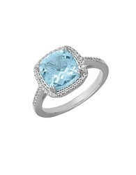 Lord And Taylor 14 Kt. White Gold Topaz Ring Blue Topaz White Gold