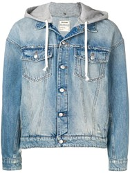 Zadig And Voltaire Hooded Denim Jacket Blue