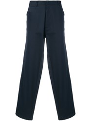 E. Tautz Classic Chino Trousers Cotton Blue