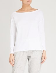 The White Company Boat Neck Jersey Top White