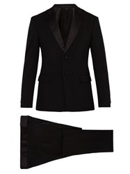 Prada Two Button Virgin Wool Blend Tuxedo Black