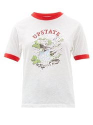 Solid And Striped X Re Done The Upstate Cotton T Shirt White