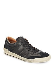 Frye Snyder Runner Leather And Suede Sneakers Black