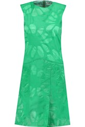 Issa Tracie Burnout Organza Mini Dress Green