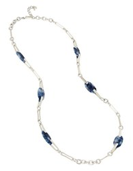 Robert Lee Morris Cool As Ice Sodalite Chain Necklace Blue
