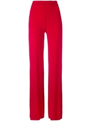 Plein Sud Jeans Straight Trousers Women Spandex Elastane Viscose 40 Red