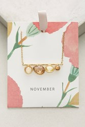 Anthropologie Birthstone Necklace Yellow