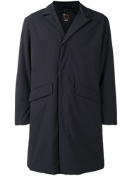 Aspesi Relaxed Fit Single Breasted Coat Black