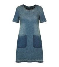 Set Denim Shift Dress Female Blue