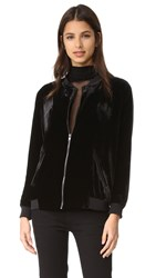 Just Female Ware Velvet Bomber Black