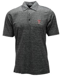 Antigua Texas Tech Red Raiders Finish Polo Black Gray