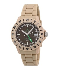 Toywatch Jet Lag Plasteramic Bracelet Watch Brown
