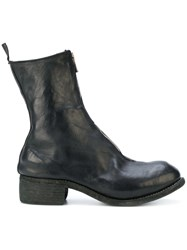 Guidi Zip Front Ankle Boots Horse Leather Leather Black