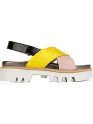 Antonio Marras Cross Strap Sandals Yellow And Orange