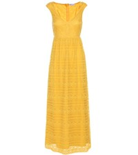 Red Valentino Lace Dress Yellow