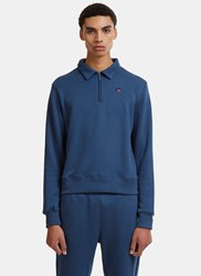 Russell Athletic Carnegie Collar Half Zip Sweater Navy
