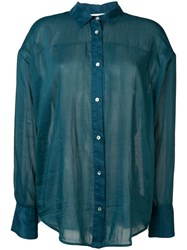 Forte Forte Blue Sheer Blouse